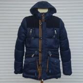Мужская зимняя куртка - парка на холлофайбере GNC с налокотниками.