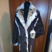 замшевое пальто с мехом