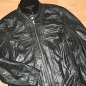 Крутая мужская кожаная куртка Milestone. Гармания. Оригинал