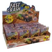 Fast Crash автомодель инерционная машинка 2 режима, краш-тест разлетается на 5 деталей