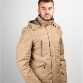 Куртка мужская на синтепоне №245M027 песочный,серый,синий,черный,темно-серый
