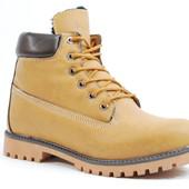 Мужские зимние ботинки Timberland 129 рыжие