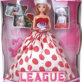 Кукла 29см на шарнирах в бальном платье и шляпе, в кор.29,0*15,0*35,0см
