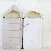 Красивый зимний конверт на меху со стразами в коляску и санки. 4 расцветки