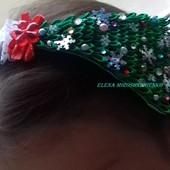 Новогодний ободок-обруч Елочка