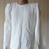Белая блузка кофта в школу  5-6 лет      (рукав 48)