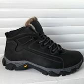 Добротные зимние ботинки Кожа+цигейка, прошитые
