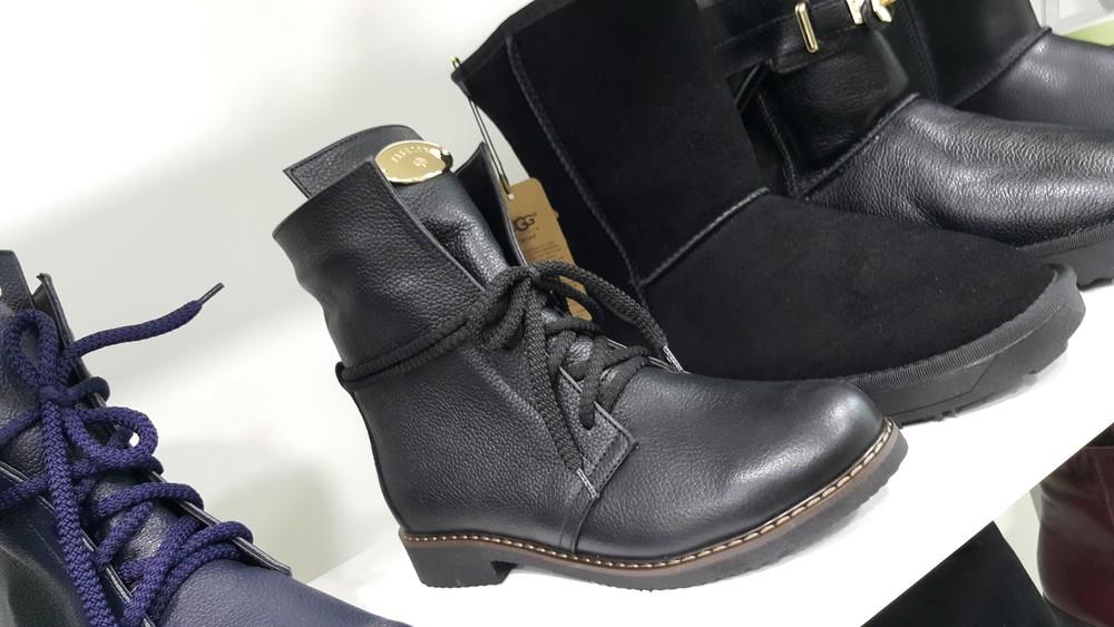 Зимние ботинки на овчине. кожаные полусапоги на меху. женские сапоги, ботиночки фото №1