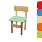 Детский стульчик деревянный цветной Финекс в ассортименте