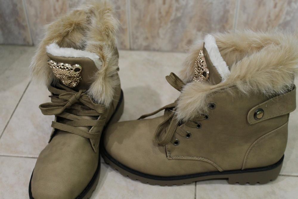 Классные женские ботинки р. 38, 39 Польша фото №2
