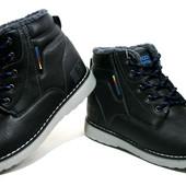 Зимние ботинки Badoxx Польша р.41-46 MXC-7032 black\blue
