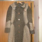 Зимнее женское пальто 70% шерсть 48-50р.
