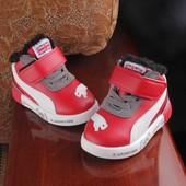 Утепленные высокие кроссовки ботинки. Еврозима