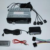Автомагнитола Pioneer 1042P iso 4 парковочных датчика, экран 3 дюйма