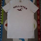 Крутая белая футболка от Hollister, размер L