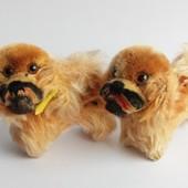 Антикварная коллекционная игрушка собака Steiff
