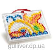 Набор - для занятий мозаикой (10-15-20 мм фишки (280 шт.) + доска (28х20, переносной)