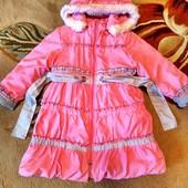 Зимнее пальто для девочки ТОРГ