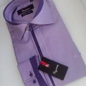 Супер-цена! Рубашки для любимых мужчин)) Приталенные рубашки Decibel, Sigmen, отлич. качества, S-3xl