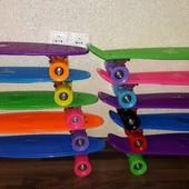Скейт Пенни борд Penny board 6 цветов, колеса полиуретан , d - 6 см. Колесо PU, диаметр - 6 см.