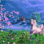Картина по номерам Turbo Розовая лошадь художника VP170