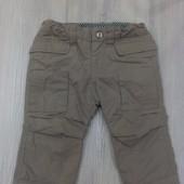 Утепленные штанишки на флисовой подкладке Zara(6-9мес) в идеале!