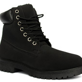 43 р Зимние мужские теплые ботинки черного цвета  (16305-2)