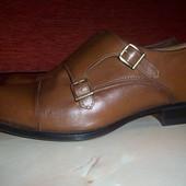 Кожаные фирменные мужские туфли Zara 41-41.5 р