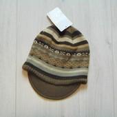 Новая шапка для мальчика. Двойная вязка. Cilla accessories. Размер 4-6 лет