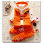 Теплый спортивный костюм-тройка 520003