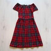 Стильное платье в шотландскую клетку для девочки. New Look. Размер 12-13 лет. Состояние: новой вещи