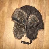 Теплая шапка ушанка, размер S-M