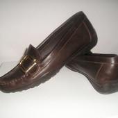 Туфли-мокасины Geox. Натуральная кожа. Р. 38/39