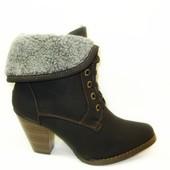 Сапоги женские зимние черные на каблуке С515