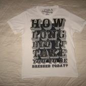 Красивая футболка ZARA (оригинал) разм. М