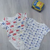 Бодик Marks&Spencer 6-9мес для мальчика в отличном состоянии!