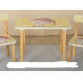 Деревянный столик со стульчиками 501-17 Бежевая Кошка