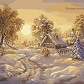 Картина по номерам Turbo Зимние сумерки VP209