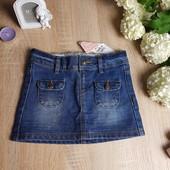 Для стильной малышки джинсовая юбочка Tape a l'oeil