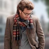 Мужской стильный шарф в клетку Tchibo Германия