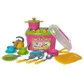 Кухня, набор посудки  в чемодане Технок 2407