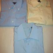 Рубашки мужские,хлопок,р.50-52(жёлтая и голубая-ф.2,3).