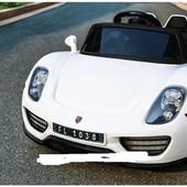 Детский электромобиль Porsche Spyder FT 1038+eva колесах,белый