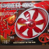 Летающая тарелка на р/у, аккумулятор, Спайдермен, диаметр тарелки 23см.