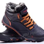 Ботинки кожаные зимние Merrell синие