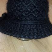 Зимняя ангоровая шапочка