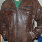 Фирменная оригинал курточка кожаная шкіра бренд Angelo Litrico.Германия л-хл .
