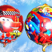 Новинка!Яркие фольгированные шарики (2 шт. как на фото)