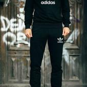 Мужской костюм Adidas (хлопок, манжеты на резинке)
