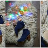 Стильные текстильные ботинки аквамарин,р-р 39